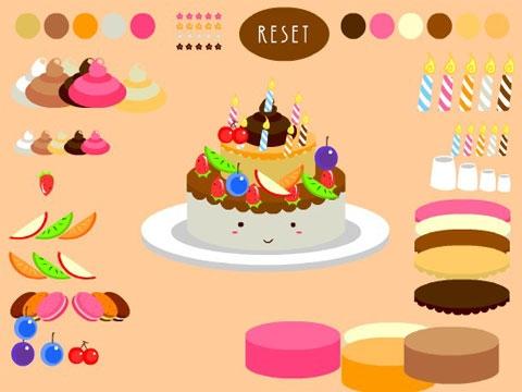 设计生日蛋糕小游戏,flash小游戏